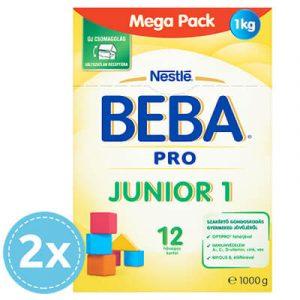 2x BEBA PRO Junior 1 Anyatej-kiegészítő tápszer 1000 g 12 hó+ (2000 g)