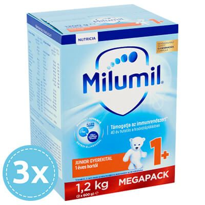 3x Milumil Junior 1 gyerekital 12 hó+ 1200 g (3600 g)