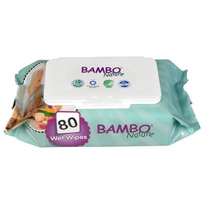 Bambo Nature Törlőkendő80 db
