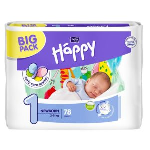 Bella Baby Happy Newborn Nadrágpelenka Big Pack (2-5 kg) 78 db