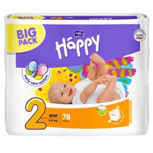 Bella Baby Happy Big Pack Nadrágpelenka 2 Mini (3-6 kg) 78 db