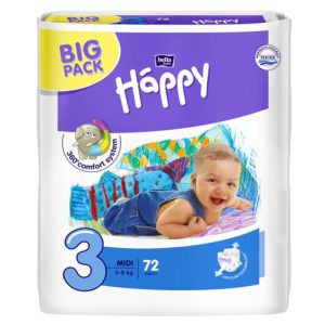 Bella Baby Happy pelenka Big Pack 3 Midi (5-9 kg) 72 db