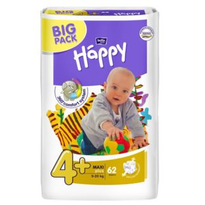 Bella Baby Happy nadrágpelenka 4+ Maxi+ (9-20 kg) 62 db Big Pack