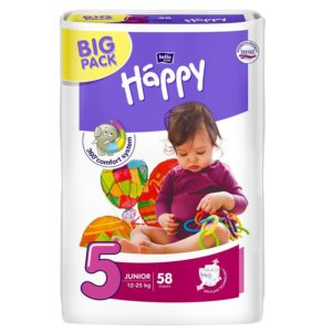 Bella Baby Happy pelenka Big Pack 5 Junior (12-25 kg) 58 db