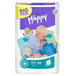 Bella Baby Happy pelenka Big Pack 6 Junior Extra (16+ kg) 54 db