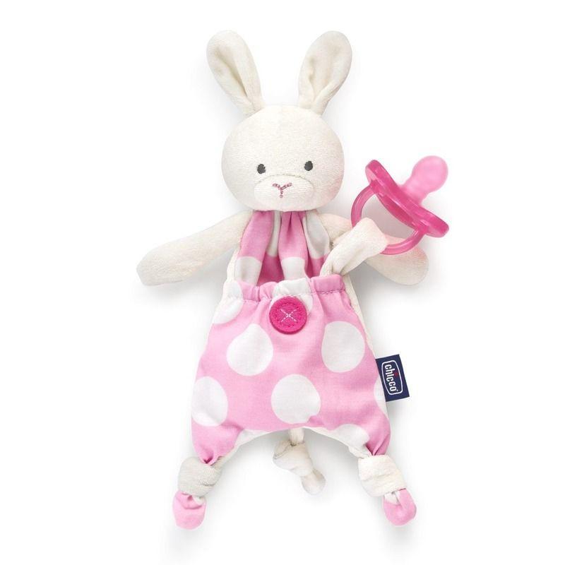 c3ae13eab4 Chicco Pocket Friend 2 in 1 plüss nyuszis szundikendő és cumitartó,  rózsaszín