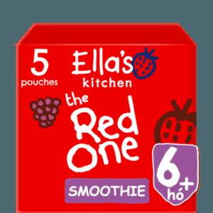Ella's Kitchen Organikus Piros gyümölcsös smoothie 6 hó+ 5 x 90 g