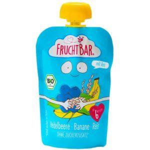 Fruchtbar Bio Áfonya, banán, rizs bébidesszert 6 hó+ 100 g