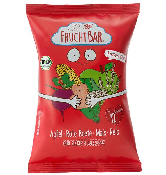 Fruchtbar Bio Kukorica snack almával, rizzsel és céklával 30g 12hó+