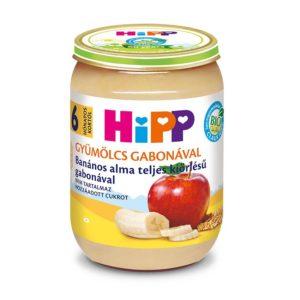 Hipp Bio Banános alma teljes kiőrlésű gabonával 190 g 6 hó+