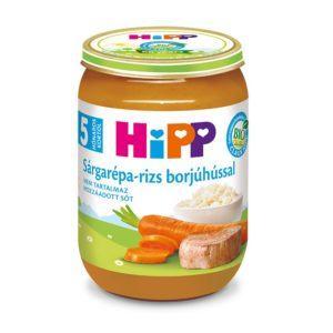 Hipp Bio Sárgarépa-rizs borjúhússal 190 g 5 hó+