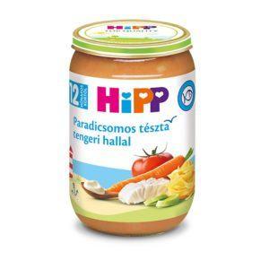 Hipp Paradicsomos tészta tengeri hallal 220 g 12 hó+