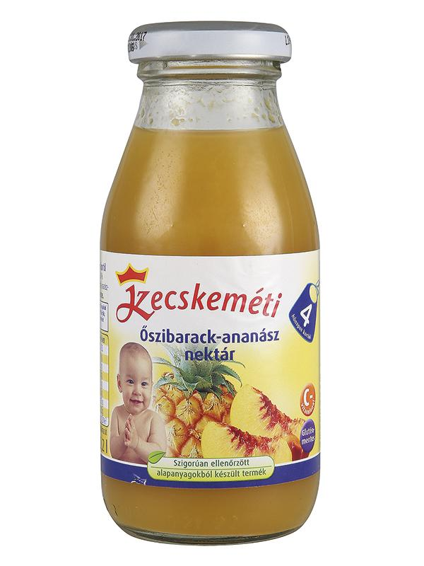 Kecskeméti Őszibarack-ananász nektár 200 ml 4 hó+