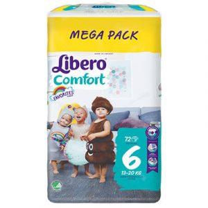 Libero Comfort Nadrágpelenka 6 (13-20 kg) Mega Pack 72 db favorites