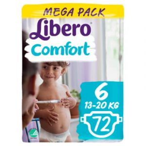 Libero Comfort Nadrágpelenka 6 (13-20 kg) Mega Pack 72 db ikon