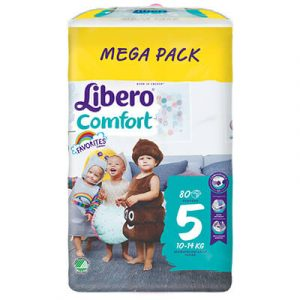 Libero Comfort nadrágpelenka 5 (10-14 kg) Mega Pack 80 db favorites