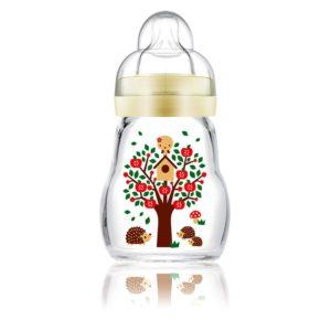 MAM Feel Good Cumisüveg Prémium üvegből 170 ml 0 hó+ (süni)
