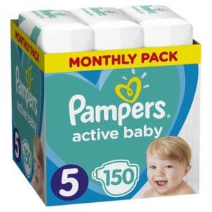Pampers Active Baby Dry Nadrágpelenka 5 Junior (11-16 kg) 150 db - Havi pelenkacsomag