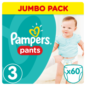 Pampers Active Pants Bugyipelenka 3 Midi 60 db (6-11 kg) - Jumbo Pack