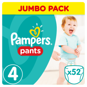 Pampers Active Pants Bugyipelenka 4 Maxi 52 db (9-14 kg) - Jumbo Pack