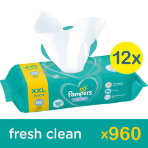 Pampers Fresh Clean 12x 80 db (960 db)