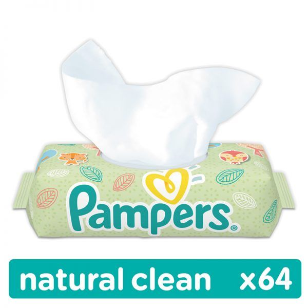 Pampers Natural Clean Illatmentes törlőkendő