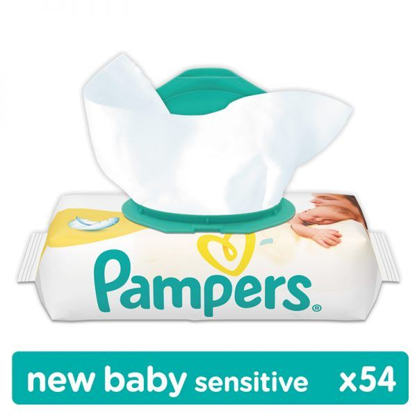 Pampers Wipes New Baby Sensitive Törlőkendő 54 db
