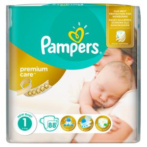 Pampers Premium Care New Baby Nadrágpelenka 1 (2-5 kg) 88 db