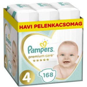 Pampers Premium Care Nadrágpelenka 4-es méret (9-14 kg) 168 db - Havi pelenkacsomag