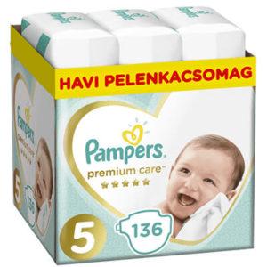 Pampers Premium Care Nadrágpelenka 5-ös méret (11-16 kg) 136 db - Havi pelenkacsomag
