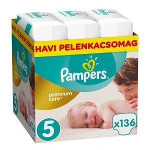 Pampers Premium Care Havi pelenkacsomag 5 Junior 136 db (11-18 kg)