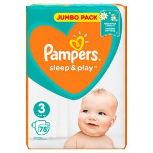 Pampers Sleep & Play Nadrágpelenka 3 Midi (6-10 kg) 78 db