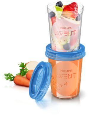 Philips Avent VIA Ételtároló pohár készlet 240 ml 5 db