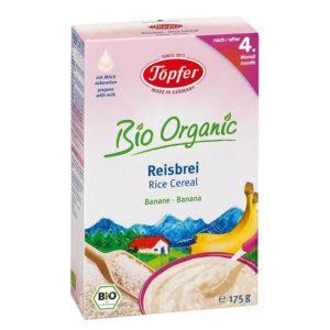 Töpfer Bio Gluténmentes banános rizspép 4 hó+ 175 g