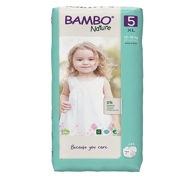Bambo Nature Öko nadrágpelenka 5 Junior (12-18 kg) 44 db