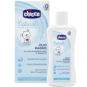 Chicco Natural Sensation fürdető olaj- Mandulaolaj, E-vitamin 0 hó+ 200 ml