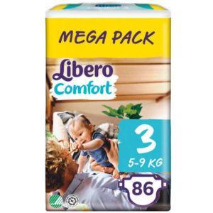 Libero Comfort Nadrágpelenka 3 (5-9 kg) Mega Pack 86 db