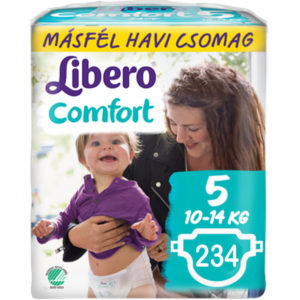 Libero Comfort nadrágpelenka 5 (10-14 kg) 234 db Másfél Havi csomag