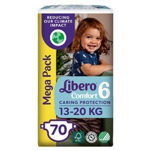 Libero Comfort Nadrágpelenka 6 (13-20 kg) Mega Pack 70 db