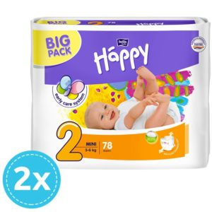 2x Bella Baby Happy Big Pack Nadrágpelenka 2 Mini (3-6 kg) 78 db (156 db)