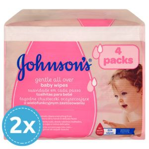 JOHNSON'S Baby Gentle All Over Törlőkendő 448 db