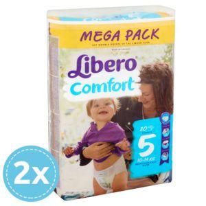2x Libero Comfort nadrágpelenka 5 (10-14 kg) 80 db (160 db)