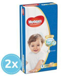 2x HUGGIES Ultra Comfort Nadrágpelenka 4 Maxi (8-14 kg) (50 db) 100 db