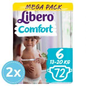 2x Libero Comfort Nadrágpelenka 6 (13-20 kg) Mega Pack 72 db (144 db) ikon