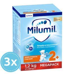 3x Milumil Junior 2 Tejalapú gyerekital 24 hó+ 1200 g (3600 g)