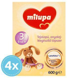 Milupa 3 Anyatej kiegészítő tápszer 9 hó+ 4x 600 g (2400 g)