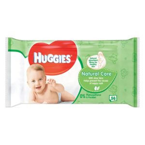 HUGGIES Natural Care nedves Törlőkendő Aloe Veraval 56 db
