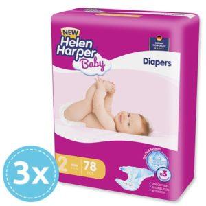 3x Helen Harper Baby Mini Nadrágpelenka (3-6 kg) 78 db (234 db)
