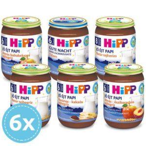 Hipp Bio Jó éjt papik 6 hónapos kortól - Csomagajánlat 6x 190 g
