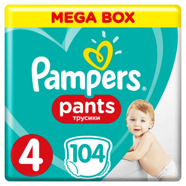 Pampers Pants Bugyipelenka 4 Maxi (9-14 kg) 104 db – MegaBox